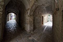 Old Dubrovnik Corner. A typical corner of old Croatian town of Dubrovnik Royalty Free Stock Photo