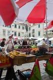 Old Dubrovnik Market. DUBROVNIK, CROATIA - MAY 16, 2013: Busy day at Dubrovnik's market. On 16 May 2013 in Dubrovnik, Croatia Stock Image