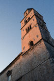Old dubrovnik at sunset. Sunset on a tower at the gate to the old city of dubrovnik Royalty Free Stock Photos