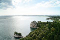 Old Duino Castle and Adriatic sea Royalty Free Stock Photography
