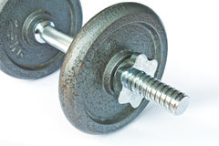 Old Dumbbell isolated Royalty Free Stock Photos