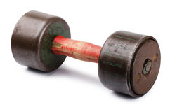 Old dumbbell Stock Photography