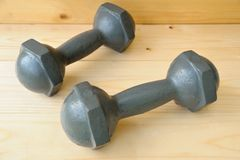 Old dumbbell Stock Photos