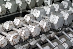 Old Dumbbells Royalty Free Stock Photos
