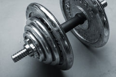Old dumbbells weight Stock Image