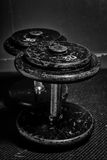 Old Dumbbells Royalty Free Stock Photography