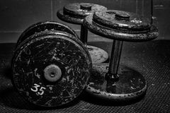 Old Dumbbells Stock Photo