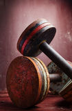 Old  dumbbells Royalty Free Stock Photo
