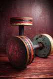 Old  dumbbells Royalty Free Stock Image