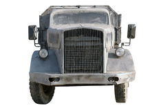 Old dump truck tipper. On a white background Royalty Free Stock Images
