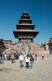 Old Durbar Square with pagodas,Kathmandu Stock Photography