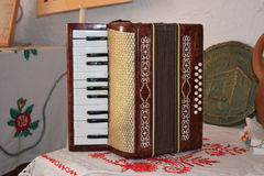 Old dusty accordion Royalty Free Stock Image