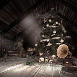 Old dusty attic Royalty Free Stock Images
