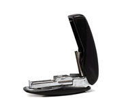 Old dusty black office stapler Royalty Free Stock Image