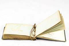Old dusty book on white isolated background Royalty Free Stock Photo