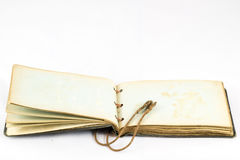 Old dusty book on white isolated background Stock Photo