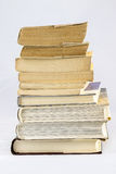 Old dusty book on white isolated background Stock Image