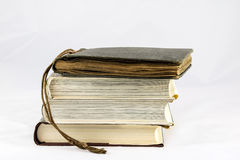 Old dusty book on white isolated background Royalty Free Stock Photography