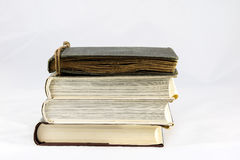 Old dusty book on white isolated background Stock Photography