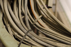 Old and dusty cables Stock Images