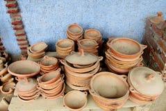 Old dusty clay pots Royalty Free Stock Photo