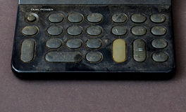 Old dusty and dirty calculator Royalty Free Stock Images