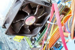 Old dusty Fan  of computer processor Royalty Free Stock Photo