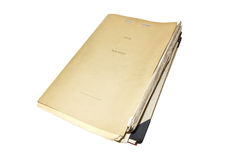 Old and dusty folder Stock Photo