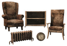 Old dusty furniture Royalty Free Stock Image