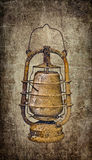 Old dusty lamp Stock Images