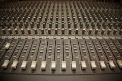 Old dusty mixer pult Royalty Free Stock Image