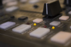 Old dusty music mixer Stock Image
