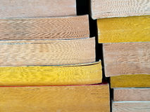 Old and dusty paperback books, stacked Stock Images