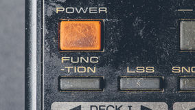 Old dusty retro remote electronic button control Royalty Free Stock Photos