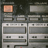 Old dusty retro remote electronic button control Stock Photo