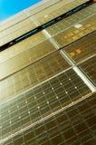 Old and dusty solar panel against sky Stock Photos