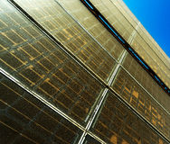Old and dusty solar panel against  sky Royalty Free Stock Image