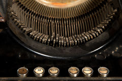 Old dusty typewriter with numbers on it Stock Photos