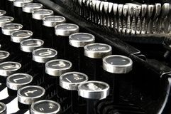 Old dusty typewriter seen up close Royalty Free Stock Image