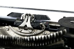 Old dusty typewriter seen up close Royalty Free Stock Photos