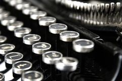 Old dusty typewriter seen up close Stock Photography