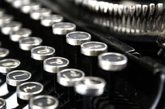 Old, dusty typewriter seen up close Royalty Free Stock Photo