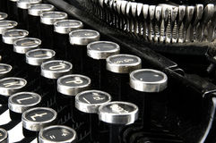 Old, dusty typewriter seen up close Stock Image