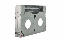 Old and dusty Video camera tape from side Stock Image