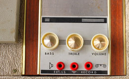 Old dusty vinyl player and controls Royalty Free Stock Photos