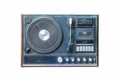 Old dusty vinyl player Stock Images