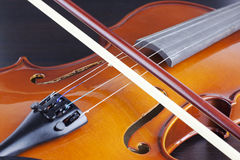 Old and dusty violin Stock Photos