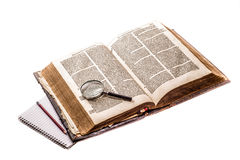 Old Dutch Bible Royalty Free Stock Images