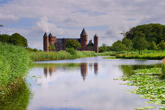 Old Dutch Castle in Domburg, Holland. The old Westhoeve castle in Domburg at the Northsea in Holland Stock Photography