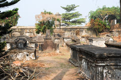 The old Dutch cemetery of Fort Cochin Stock Photos